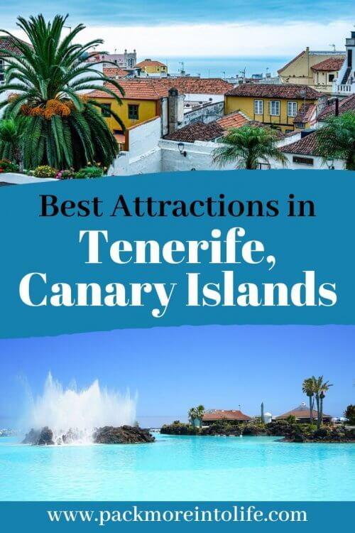 Black sand beaches, volcanoes, the biggest waterpark in Europe (Siam Park) and local markets. Plan the perfect trip with this 5-day Tenerife itinerary. I'll share the best attractions in Tenerife and the best things to do. #tenerife #canaryislands #spain #travel