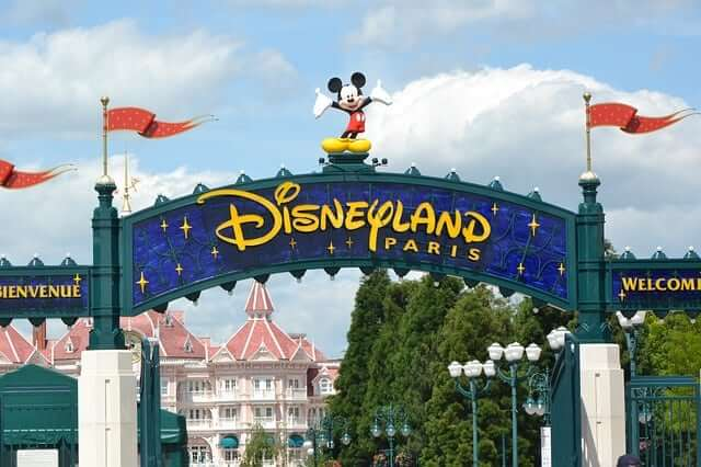 Sign of Disneyland Paris
