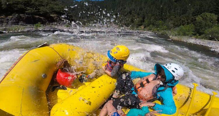 Rafting California with the rapids