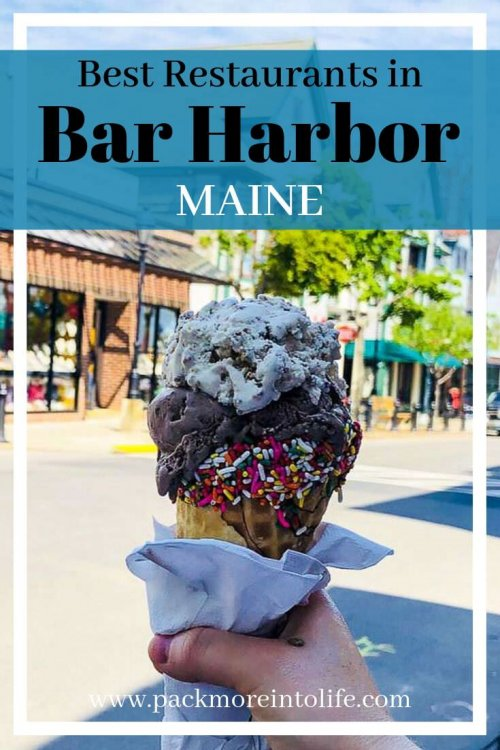 Bar Harbor has a ton of restaurants, making it a perfect vacation for foodies. Check out all the delicious places to eat in Bar Harbor, Maine. #maine #travel #barharbor