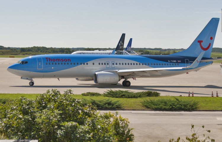 Fly to Croatia from US on multiple airlines. Photo features a TUI flight into Pula, Croatia.