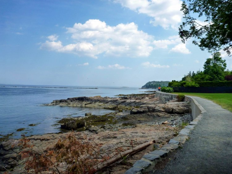 Shore path near Bar Harbor, Maine