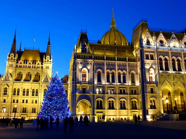 Budapest, Hungary during Christmas.