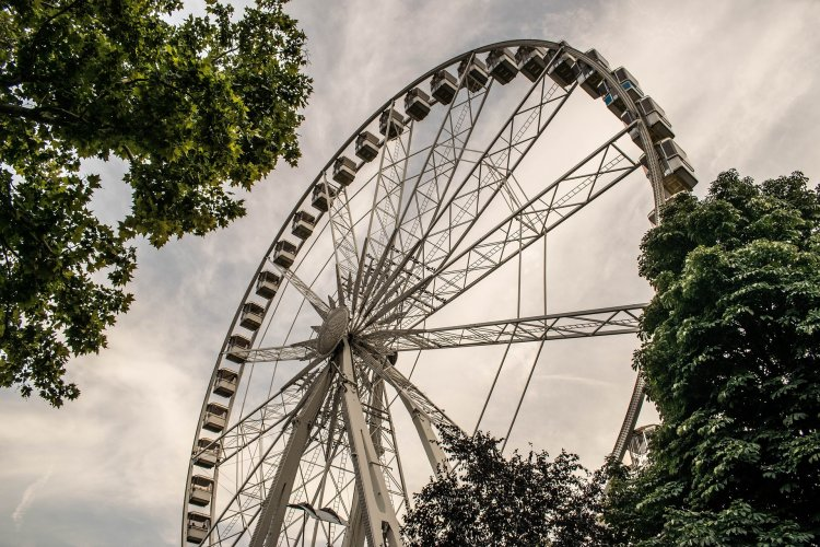 Ferris Wheel in the park by our airbnb Budapest apartment in the city center.