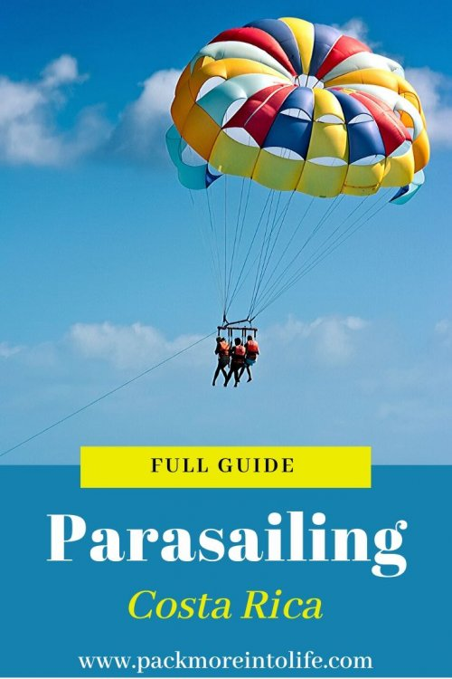 Looking for a high flying adventure? See why you should book with Aguas Azules for the perfect Costa Rica parasailing adventure flying 600 feet over Manuel Antonio National Park.