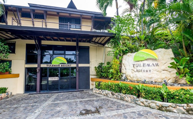 Entrance to Tulemar Resort in Costa Rica