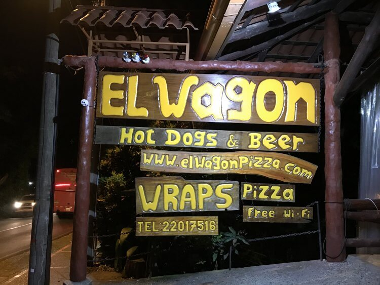 El Wagon, one of the best restaurants in Manuel Antonio for wood fired pizza.