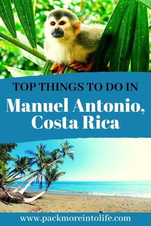 Planning on visiting Manuel Antonio? Here is a list of five fun things to do in Manuel Antonio including day tours, activities, wildlife viewing, places to eat, free things to do and more! #travelguide #costarica #thingstodo #manuelantonio