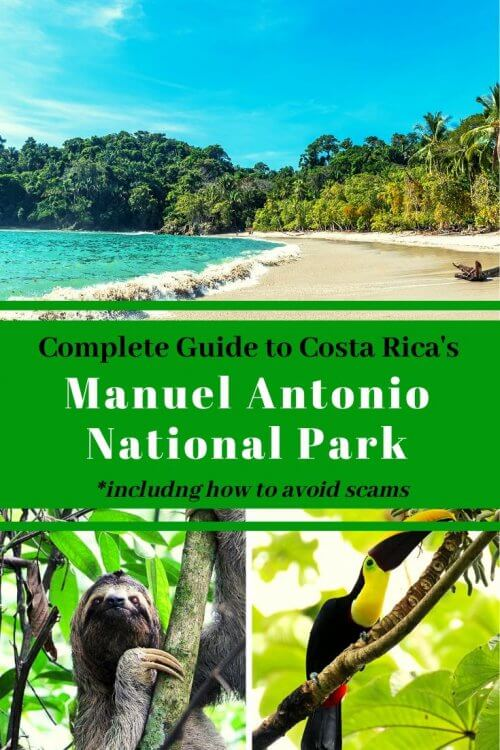 Manuel Antonio is one of Costa Rica's top destination sites. Though it houses the smallest National Park in the country, the beautiful, untouched beaches, which border the rainforest, continue to draw visitors from all over the world. This guide will give you a list of all you need to know while exploring the park and discovering the diverse wildlife that calls Parque Nacional Manuel Antonio its home. Visit Manuel Antonio National Park for a chance to spot two and three-toed sloths, three distinct types of monkeys, iguanas, coatis, and 200 different species of birds! Things to do in Manuel Antonio| Tips for visiting Manuel Antonio National Park | Manuel Antonio Costa Rica Activities #costarica #centralamerica #costaricahikes #travel #travelwithkids