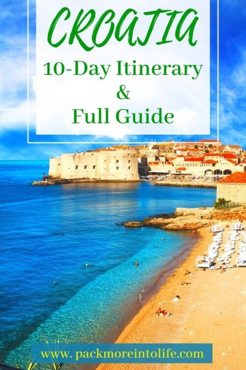 The Ultimate 10 Day Croatia Itinerary: everything you need to know to plan the perfect trip to Croatia! 10 days in croatia | croatia itinerary | trip to croatia | croatia vacation | croatia holiday | things to do in croatia | where to go in croatia | best places to visit in croatia | things to do in dubrovnik | things to do in plitvice lakes national park croatia | things to do in split | things to do in hvar | things to do in zagreb Croatia