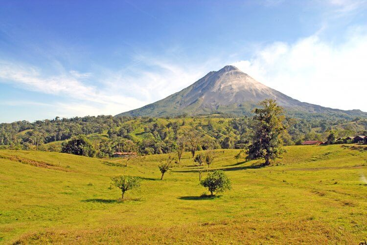 Hiking around the Arenal Volcano is one of the recommended things to do in la fortuna costa rica.