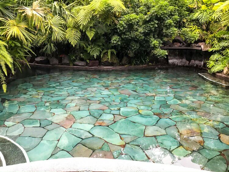 One of the larger hot springs located at the Hotel El Silencio Del Campo in Costa Rica.