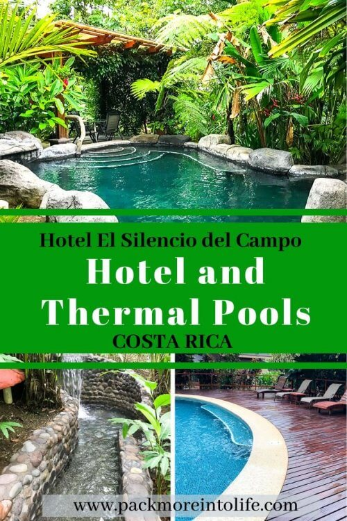 Check out why Hotel El Silencio del Campo is one of the best Arenal hot springs in La Fortuna, Costa Rica. Check out this full review to help you decide if you should book this hotel for your Costa Rica vacation. #travel #costarica #thermalsprings