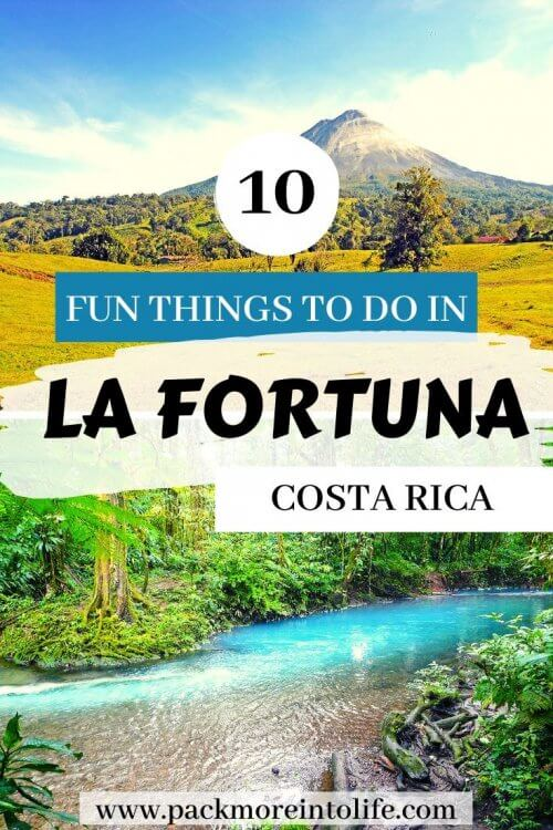 10 AMAZING things to do in Arenal, Costa Rica! You have booked your resort, now it's just a matter of figuring out what to actually DO once you get there. We have got you covered with the best things to do in La Fortuna, Costa Rica, from waterfall rappelling, to chocolate tours, whitewater rafting and beautiful waterfalls. | things to do in Arenal Costa Rica | Arenal volcano Costa Rica things to do | Arenal volcano Costa Rica with kids | La Fortuna Costa Rica things to do in | La Fortuna Costa Rica hot springs | La Fortuna waterfall Costa Rica