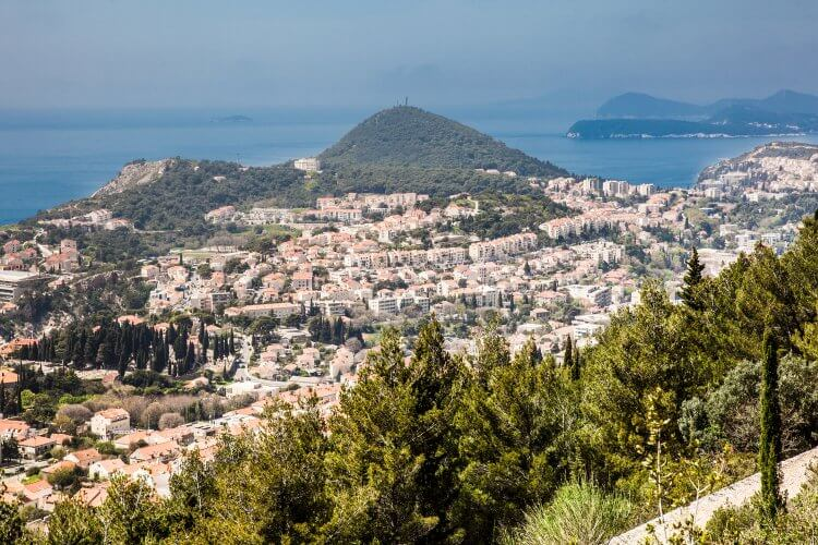 Dubrovnik City view from Mount Srd