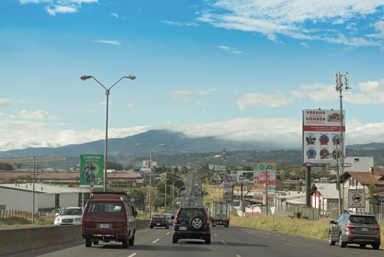 The Autopista 1 Bernardo Soto near the airport of San Jose, Costa Rica. It's hard to decide in Costa Rica where to go, so this itinerary will help.
