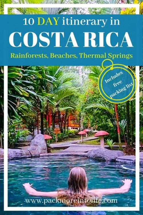 Looking for the perfect Costa Rica Itinerary 10 days exploring the various regions in the country? I've got you covered with the best Costa Rica Itinerary with kids (or without). Packed with adventures like parasailing, ziplining, going waterfall rappelling and going on a chocolate tour. You'll get to see three different regions: Manuel Antonio, Monteverde and La Fortuna/Arenal. Don't miss the interactive Costa Rica itinerary map. |Costa Rica Travel | Costa Rica Vacation | Free Costa Rica Packing List | Costa Rica Itinerary two weeks | #costarica #travelwithkids #outdooradventure #costaricaitinerary #costaricaexperts #centralamerica