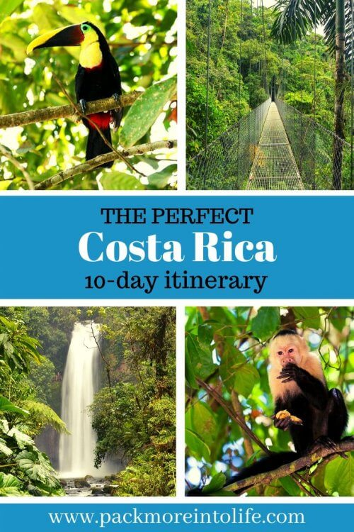 Best 10 day itinerary for Costa Rica so you hit all the major sites including: Manuel Antonio, Monteverde, La Fortuna/Arenal and San Jose. I'll share all the best attractions, accommodations, restaurants and how to plan the perfect Costa Rica vacation with a free Costa Rica packing list. Don't miss the interactive Costa Rica itinerary map. |Costa Rica Travel | Costa Rica Itinerary two weeks | #travelwithkids #costarica #costaricaitinerary