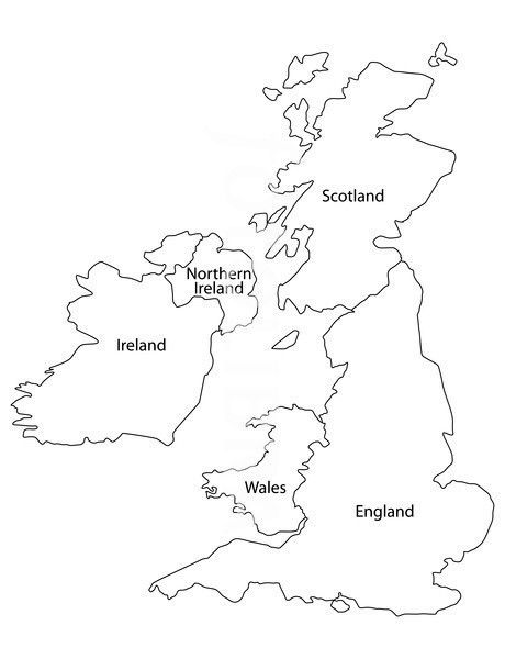 Printable Map of England and the UK.