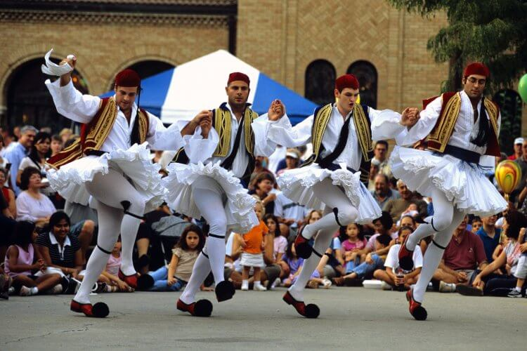 Greek Festival with traditional dancers (men).