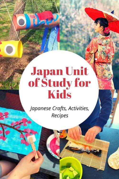 Travel virtually to Japan with us! Lots of free Japanese crafts for kids and activity ideas! Think: STEM Projects, crafts and activities, unit study or thematic lessons, fish kites, cherry blossom paintings, karate practice, Japanese folktales, favorite books about Japan, Japan map activities and more! | Japan unit study for kids | Japan crafts for kids | Japan homeschool unit | Japanese crafts | virtual travel | virtual travel around the worlds |#japan #homeschool #virtualtravel #travelwithkids
