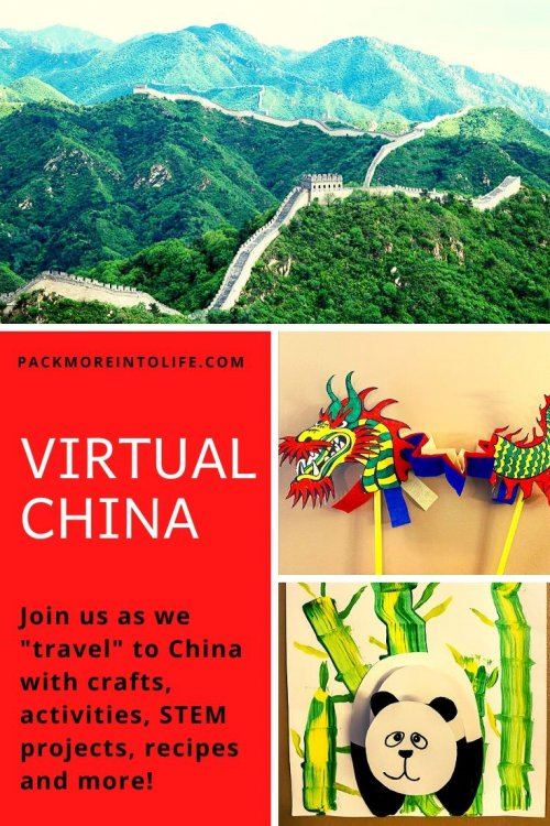 I'm sharing all the free resources I used to teach my son all about China this week, including free activities, crafts, Chinese acrobatic lessons, how to make egg rolls with kids, links, educational activities, videos, recipes, and crafts! This comes from our around-the-world unit study, and I'd be thrilled if you used these ideas for learning in your homeschool or classroom. | China unit study for kids | China crafts for kids | China homeschool unit | Chinese crafts | virtual travel | virtual travel around the worlds | #china #homeschool #virtualtravel #travelwithkids
