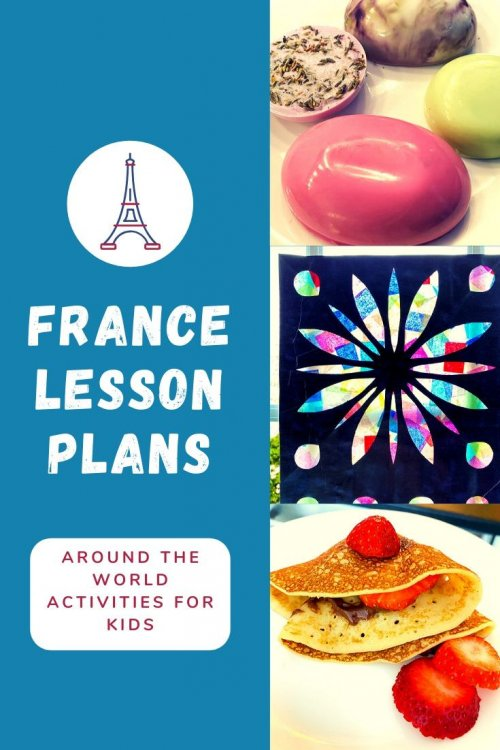 Travel virtually to France with us! Lots of free French crafts for kids and activity ideas! Think: STEM Projects, crafts and activities, unit study or thematic lessons, Notre Dame stained glass windows, Van Gogh paintings, Tour De France bike races, French folktales, favorite books about France, France map activities and more! | France unit study for kids | France crafts for kids | France homeschool unit | French crafts | virtual travel | virtual travel around the worlds |#France #homeschool #virtualtravel #travelwithkids