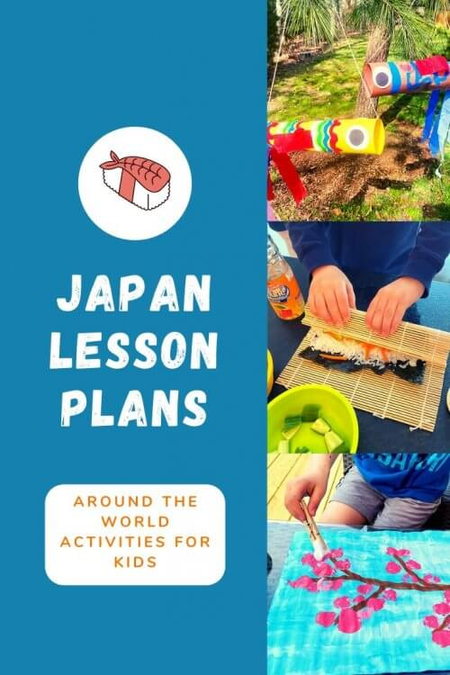 I'm sharing all the free resources I used to teach my son all about Japan this week, including free activities, crafts, karate lessons, how to make sushi with kids, links, educational activities, videos, recipes, and crafts! This comes from our around-the-world unit study, and I'd be thrilled if you used these ideas for learning in your homeschool or classroom. | Japan unit study for kids | Japan crafts for kids | Japan homeschool unit | Japanese crafts | virtual travel | virtual travel around the worlds | #japan #homeschool #virtualtravel #travelwithkids