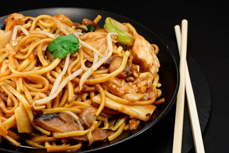 Chow Mein with chicken.