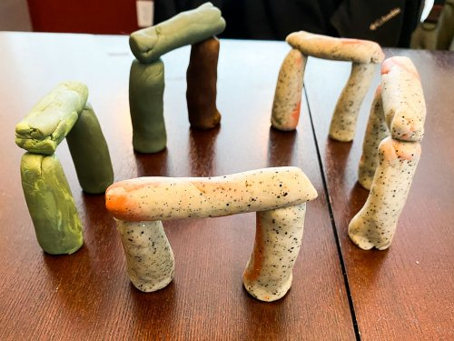 Play Dough version of Stonehenge
