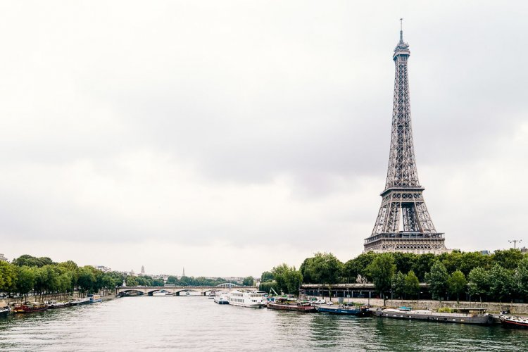 Eiffel Tower along the Seine River