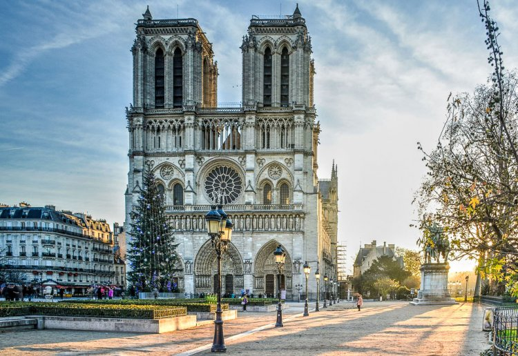 Notre Dame in Paris France.