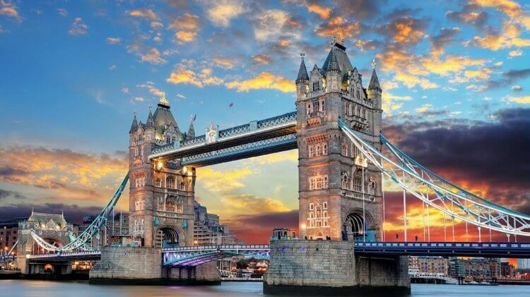 Tower Bridge in London, England.