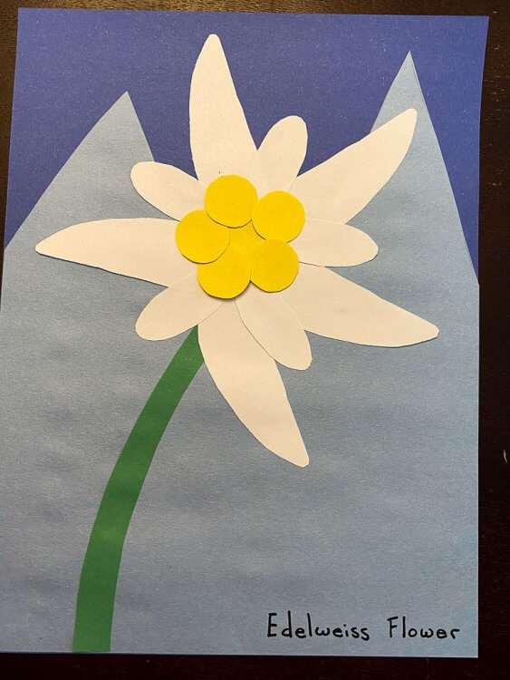 Completed Edelweiss Flower craft.