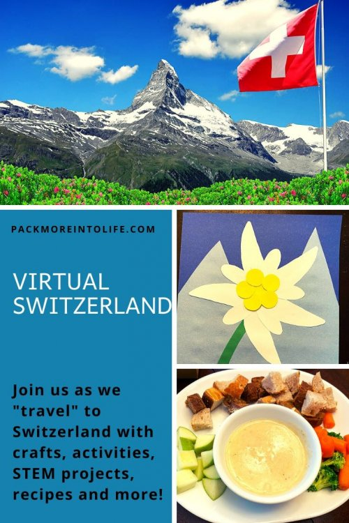 We love learning about new cultures and Switzerland is a favorite. Teach your children about Switzerland with this Swiss Lesson Plan full of creative and fun ideas for all ages. Included are plenty of free resources from map activities, favorite books about Switzerland, plenty of Switzerland crafts including alpine hats, edelweiss flowers and a felt first aid kit to honor the Red Cross. Kids will be active during the outdoor scavenger hunt and might learn a few Swiss/German phrases in the video (included). Travel around the world in this virtual trip to Switzerland. | Switzerland unit study for kids | Switzerland crafts for kids | Switzerland homeschool unit | Switzerland crafts | virtual travel | virtual travel around the world |#switzerland #homeschool #virtualtravel #travelwithkids