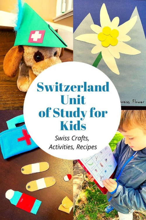 I'm sharing all the free resources I used to teach my son all about Switzerland this week, including free activities, crafts, nature scavenger hunt, how to make swiss cookies with kids, links, educational activities, videos, recipes, and crafts! This comes from our around-the-world unit study, and I'd be thrilled if you used these ideas for learning in your homeschool or classroom. | Switzerland unit study for kids | Switzerland crafts for kids | Switzerland homeschool unit | Swiss crafts | virtual travel | virtual travel around the world | #Switzerland #homeschool #virtualtravel #travelwithkids