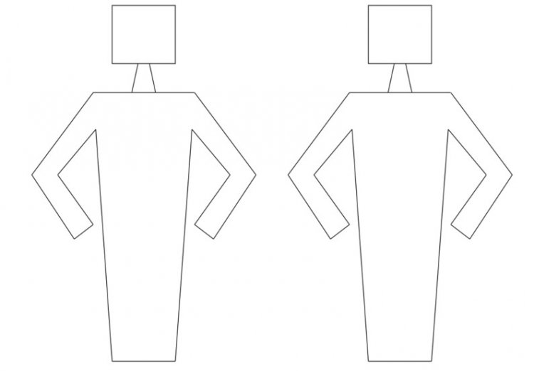 Print out the body shapes to color.