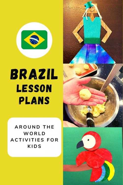Travel virtually to Brazil with us! Lots of free Brazilian crafts for kids and activity ideas! Think: STEM Projects, crafts and activities, unit study or thematic lessons, Brazilian Parrot Craft, Brazilian Samba dancers, learning Portuguese, Brazilian samba, Brazilian folktales, favorite books about Brazil, Brazil map activities and more! | Brazil unit study for kids | Brazil crafts for kids | Brazil homeschool unit | Brazilian crafts | virtual travel | virtual travel around the worlds |#Brazil #homeschool #virtualtravel #travelwithkids