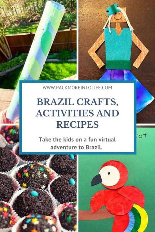 I'm sharing all the free resources I used to teach my son all about Brazil this week, including free activities, crafts, Brazilian samba lessons, how to make Brazilian cheese rolls, links, educational activities, videos, recipes, and crafts! This comes from our around-the-world unit study, and I'd be thrilled if you used these ideas for learning in your homeschool or classroom. | Brazil unit study for kids | Brazil crafts for kids | Brazil homeschool unit | Brazilian crafts | virtual travel | virtual travel around the worlds | #Brazil #homeschool #virtualtravel #travelwithkids