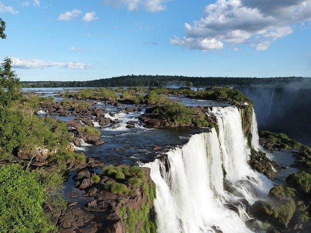 Iguazu Falls in Brazil.